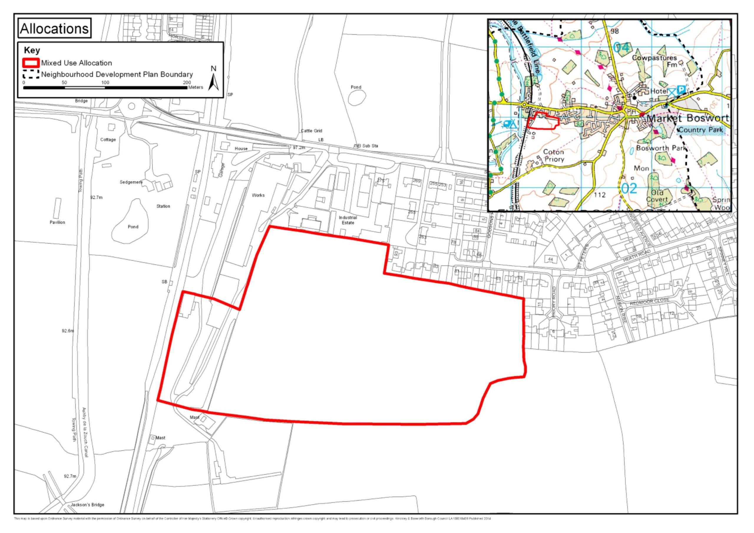 Allocated Site Location Map