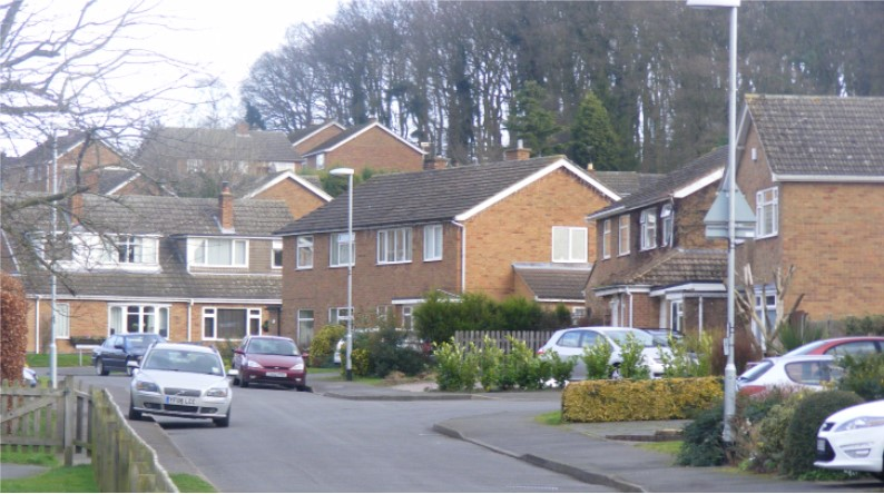 A residential street in Market Bosworth