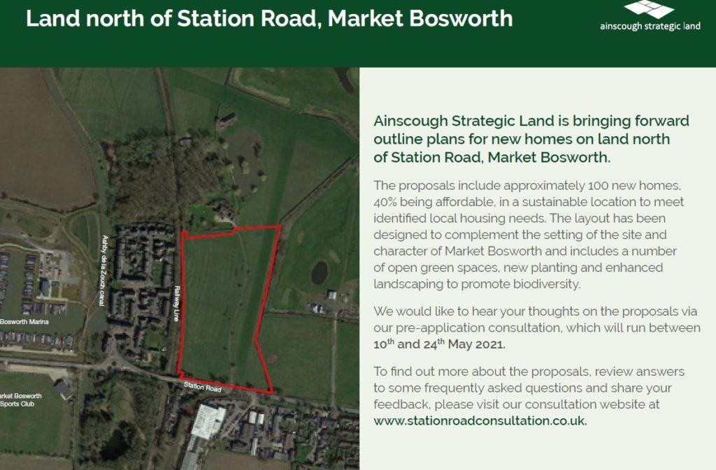 Ainscough Strategic Land consultation postcard